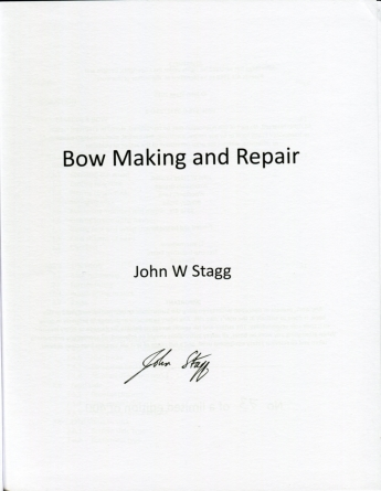 John Stagg: Bow Making and Repair
